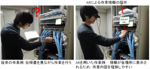 図2: AR技術をつかった作業支援